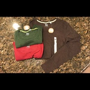 Lot of 3 SO Long Sleeved Crewneck size L  NWT